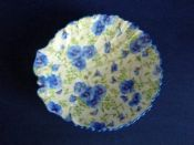 Rare Shelley Fine Bone China 'Blue Pansy' Chintz Dish c1939
